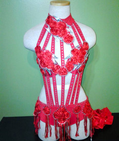 Habanero Red Salsa Dress by Baila Designs